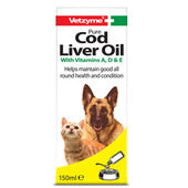 Vetzyme Dog Pure Cod Liver Oil Supplement 150ml