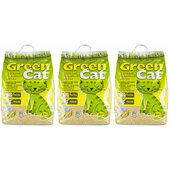 3 x 20L Green Cat Natural Clumping Cat Litter Multibuy