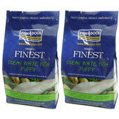2 x 12kg Fish4Dogs Finest Regular Bite Ocean White Fish Complete Puppy Food Multibuy