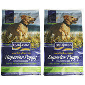 2 x 12kg Fish4Dogs Regular Bite Salmon & Potato Superior Puppy Food Multibuy
