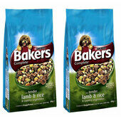 2 x 14kg Bakers Complete Lamb, Rice & Veg Adult Dog Food Multibuy
