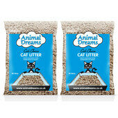 2 x 30L Animal Dreams Cat's Choice Natural Wood based Cat Litter