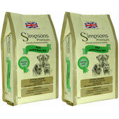 2 x 12kg Simpsons Premium Adult Lamb & Brown Rice Dry Dog Food Multibuy