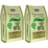 2 x 12kg Simpsons Premium Adult Lamb & Brown Rice Dry Dog Food Multibuy