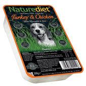 18 x 390g Naturediet Turkey & Chicken With Vegetables & Rice Wet Dog Food