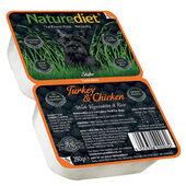 18 x 280g Naturediet Turkey & Chicken With Vegetables & Rice Wet Dog Food