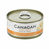 12 x 75g Canagan Chicken With Salmon Grain-Free Cat Food