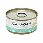 12 x 75g Canagan Chicken With Sardine Grain-Free Cat Food