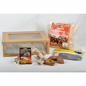 The Pet Express Corn Snake Starter Kit - Oak Vivarium (18\