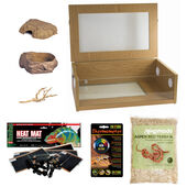 "The Pet Express Corn Snake Starter Kit - Oak Vivarium (24"")"