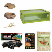 The Pet Express Corn Snake Starter Kit - Medium Vivarium Green (24