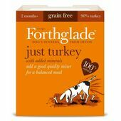 18 x 395g Forthglade Just Turkey Natural Wet Dog Food