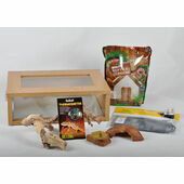 The Pet Express Small Leopard Gecko Starter Kit - Oak Vivarium (18