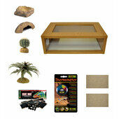 Medium Leopard Gecko Starter Kit - Monkfield Oak Vivarium (24\