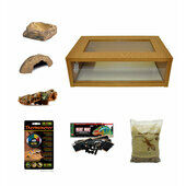 Medium Royal Python/Ball Python Starter Kit Monkfield Oak Vivarium (24\