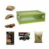 Medium Royal Python/Ball Python Starter Kit Monkfield Vivarium Green (24 Inch)
