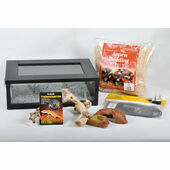 The Pet Express Corn Snake Starter Kit- Black Small Vivarium (18\