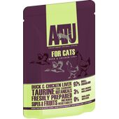 16 x AATU Cat Duck & Chicken Liver 85g