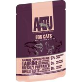 16 x AATU Cat Salmon Chicken & Prawn 85g