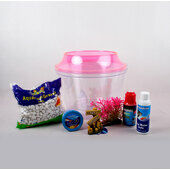 The Pet Express Cold Water Fish Bowl Goldfish Starter Kit - Pink