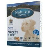 20 x Natures Harvest Adult Chicken & Tripe 395g