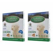20 x 395g Natures Harvest Puppy Chicken