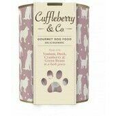 12 x 400g Cuffleberry & Co. Venison Duck Cranberry & Green Beans In A Herb Gravy