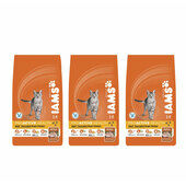 3 x 3kg Iams Chicken Adult Cat Food