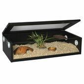 Monkfield Terrainium Reptile Vivarium - 30 Inch Black