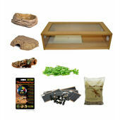 Royal/Ball Python Large Monkfield Vivarium Starter Kit - Oak 30 Inch