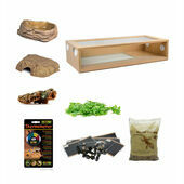 Royal Python/Ball Python Extra Large Monkfield Vivarium Starter Kit - Oak 36 Inch