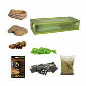 Royal/Ball Python Extra Large Monkfield Vivarium Starter Kit - Green 36 Inch