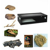Monkfield Vivarium Corn Snake Starter Kit - Black (30\