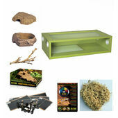 The Pet Express Monkfield Vivarium Corn Snake Starter Kit - Green 30 Inch
