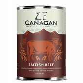 6 x 400g Canagan British Braised Beef Wet Dog Dood
