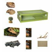 Monkfield Terrainium Leopard Gecko Large Starter Kit - Green 30 Inch