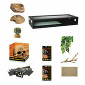 "Monkfield Terrainium Leopard Gecko Extra Large Starter Kit - Black (36"")"
