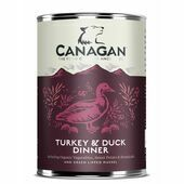 6 x 400g Canagan Turkey & Duck Dinner Wet Dog Food