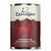 6 x 400g Canagan Venison & Wild Boar Stew Wet Dog Food