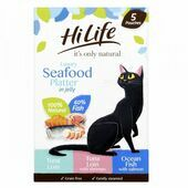 20 x HiLife It's Only Natural Luxury Seafood Platter In Jelly Variety Pack 50g