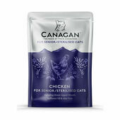 8 x 85g Canagan Wet Cat Food Pouches in Chicken for Senior/Sterilised Cats