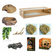 The Pet Express Corn Snake Starter Kit - Extra Large Oak Vivarium (36
