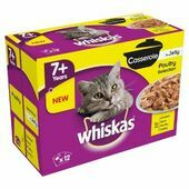 4 x Whiskas Pouch 7+ Casserole Poultry Selection In Jelly 12x85g