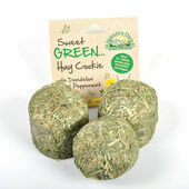 Sweet Green Hay Cookies with Dandelion and Peppermint for Small Animals
