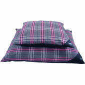 Hem and Boo Deep Duvet Dog Bed in Pink Check