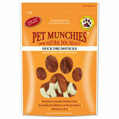 Pet Munchies Natural Drumsticks Dog Treats - Duck