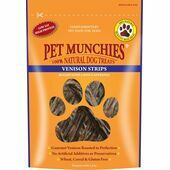 Pet Munchies Natural Dog Treat Venison Strips