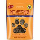 Pet Munchies Natural Dog Treat Venison Strips