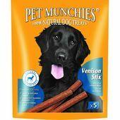 Pet Munchies Natural Dog Treat Venison Stix