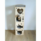 Rosewood Solid Wood Sleeper Caves Cat Activity Tower